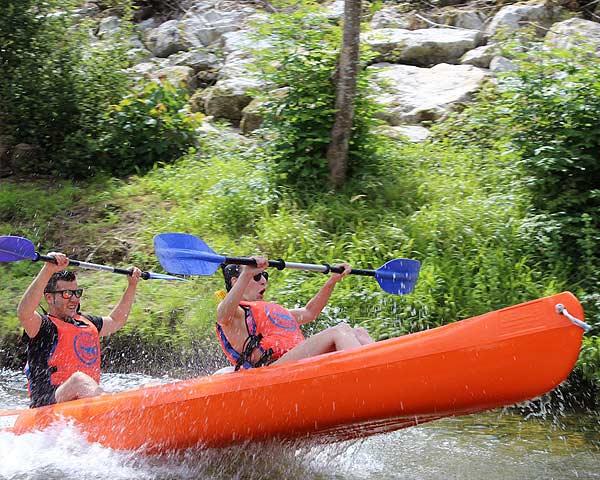 La mejor rampa para iniciar el descenso del Sella en canoa